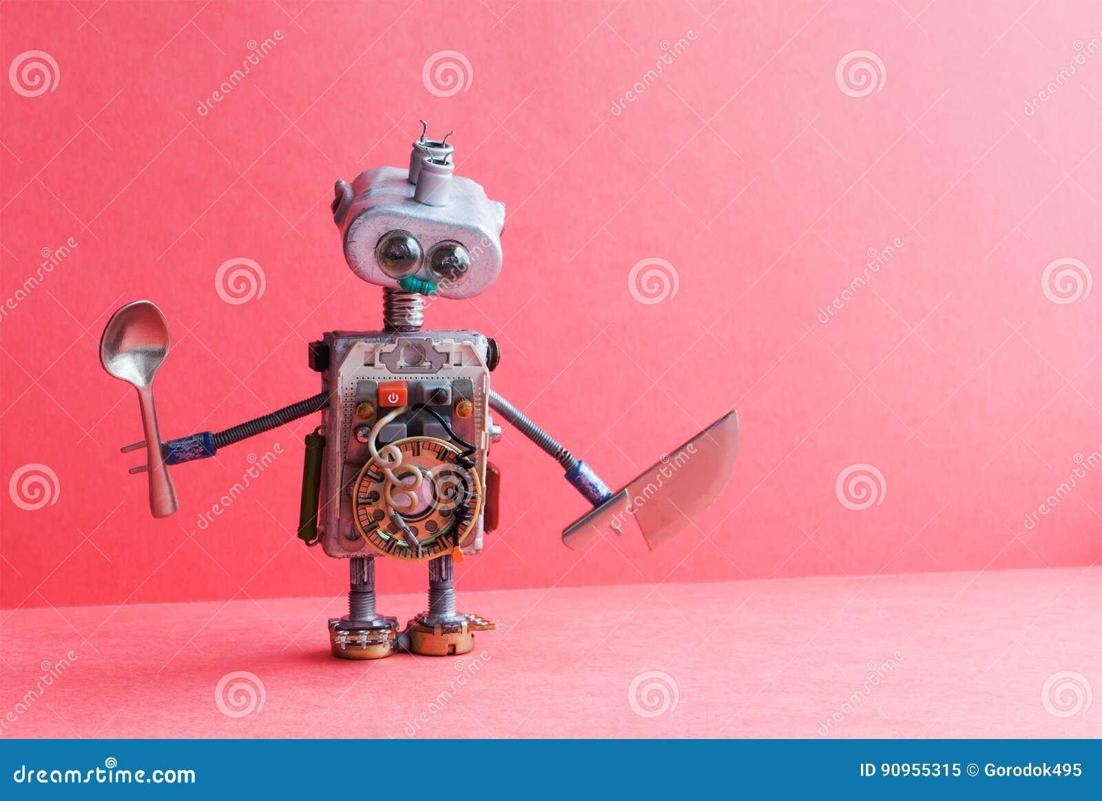 Cuillere Mecanique De Couteau De Robot De Chef De Cuisine Jouet