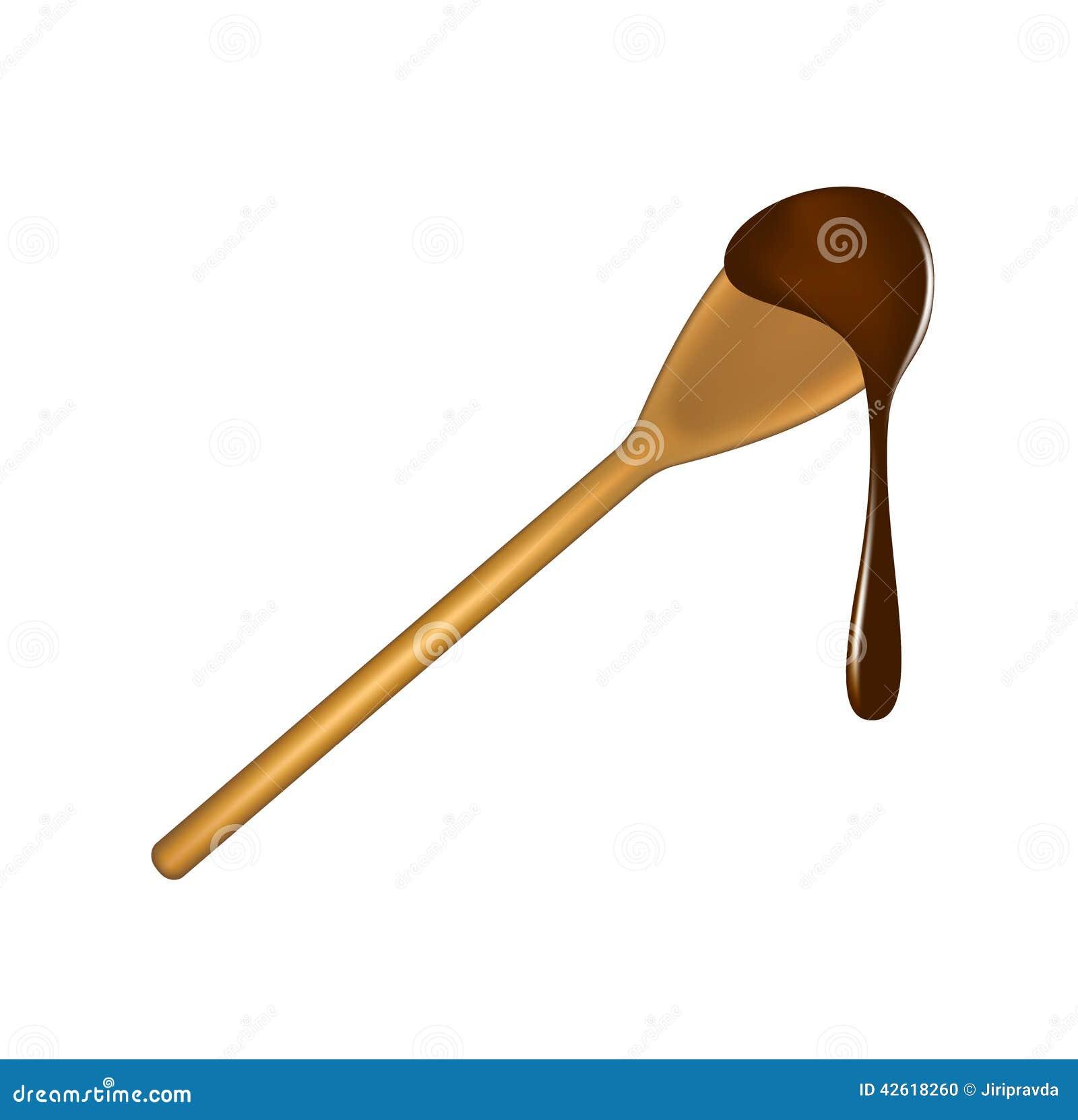 cuill re en bois avec du chocolat illustration de vecteur image 42618260. Black Bedroom Furniture Sets. Home Design Ideas