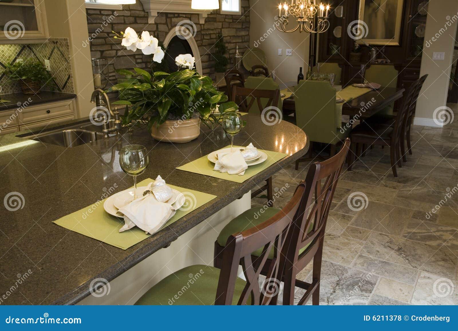 Cuisine à La Maison De Luxe Moderne. Photo stock - Image du ...
