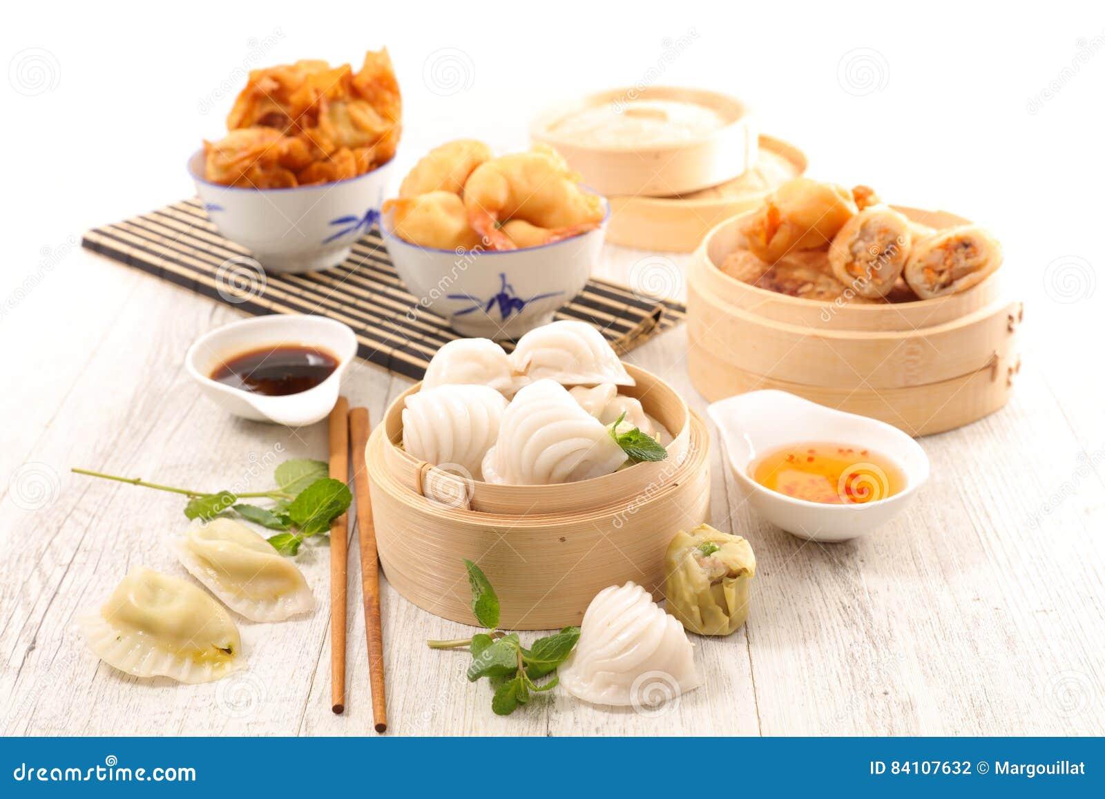 Cuisine asiatique assortie nourriture photo stock image for Asiatique cuisine