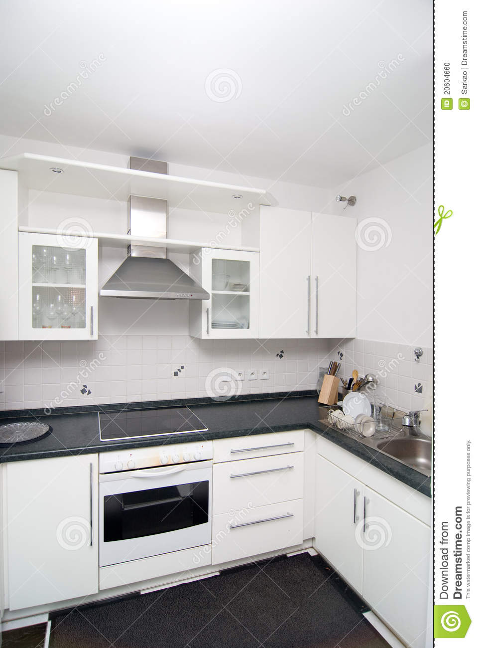 Cuisine Home Design : Cuisine Blanche Photo stock  Image 20604660