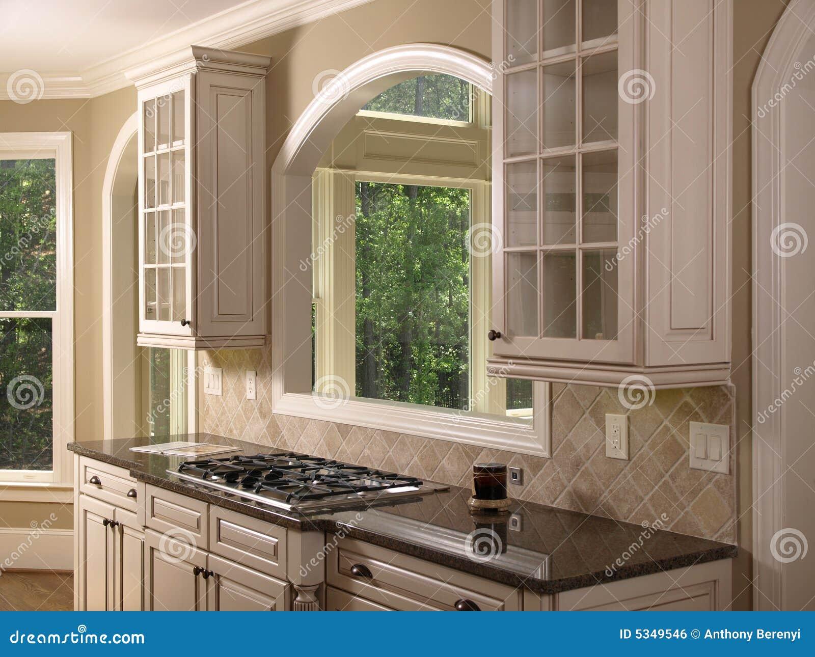 Cuisine blanche de luxe 2 de maison mod le image libre de droits image 5349546 for Modele de maison de luxe