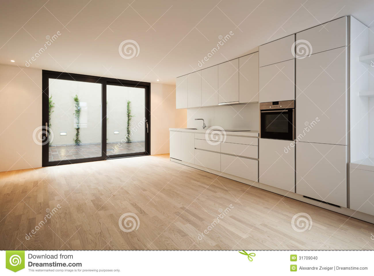 Cuisine Blanche Moderne Photo stock - Image: 31709040
