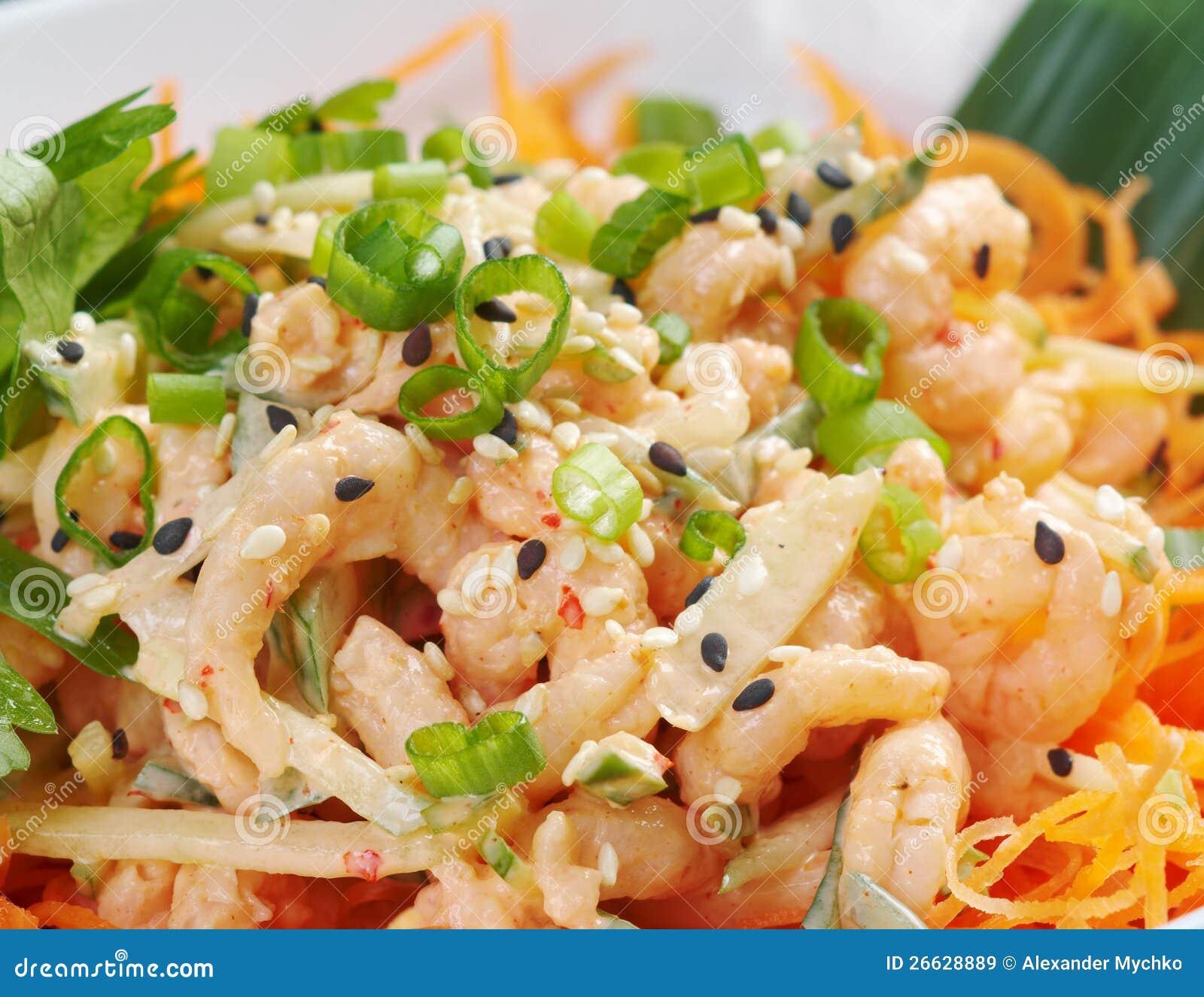 Cuisine chinoise salad de crevette images libres de for Cuisine chinoise