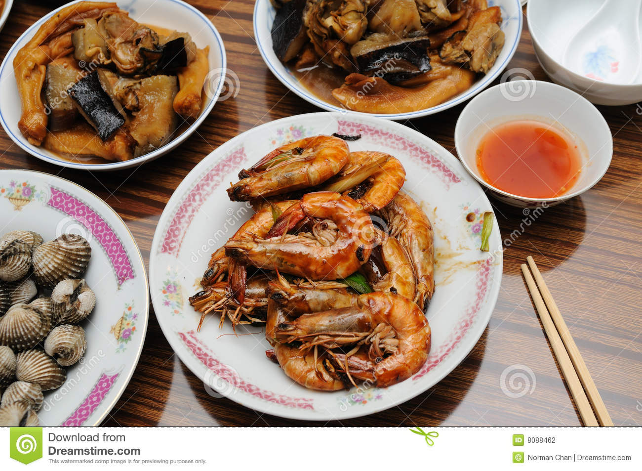 cuisine chinoise traditionnelle photographie stock - image: 8088462