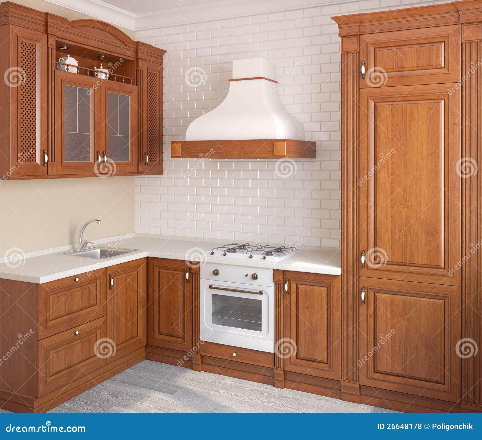 Cuisine classique en bois photos libres de droits image 26648178 Cuisine classique en bois massif
