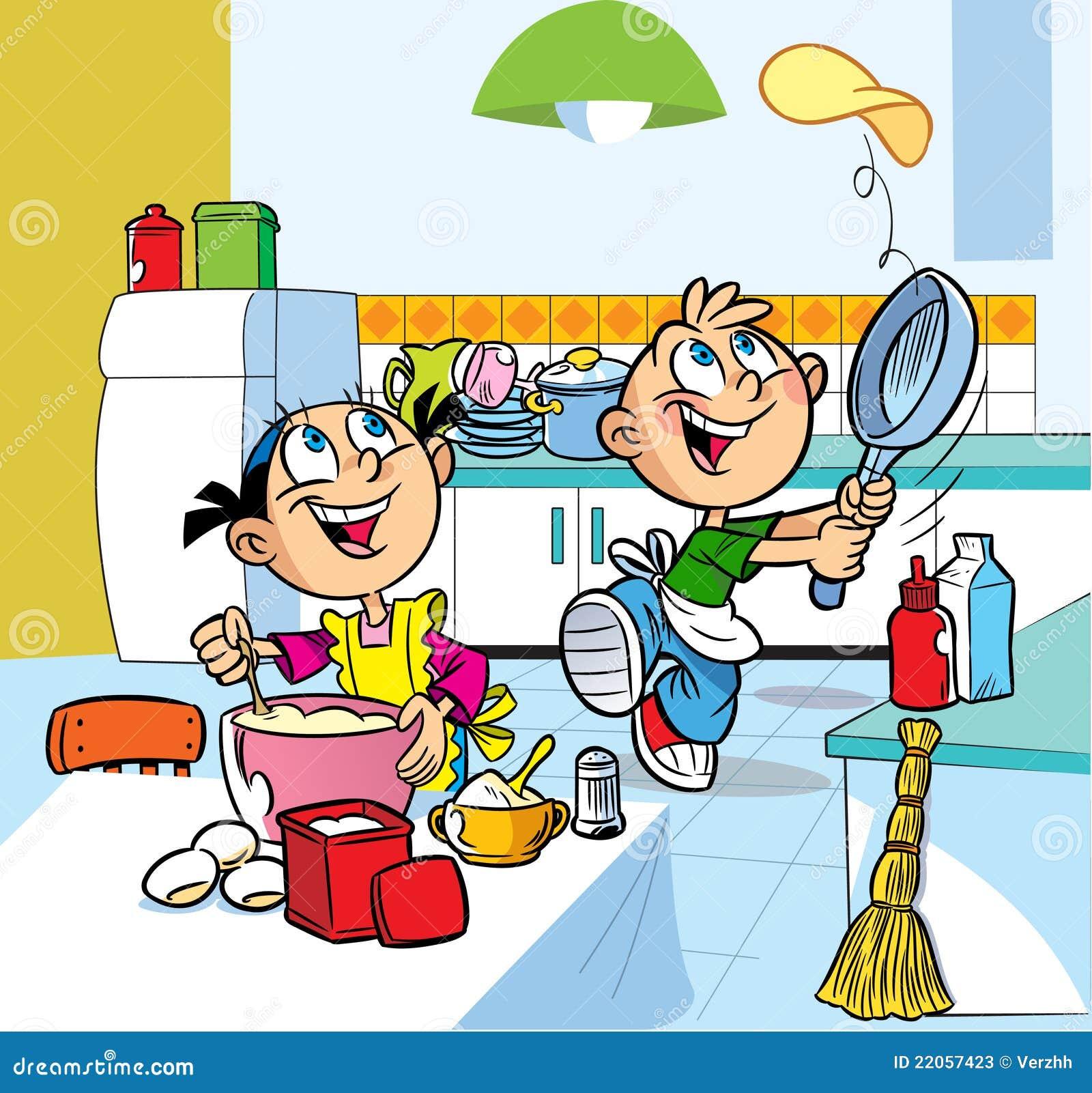 Cuisine d 39 amusement photos stock image 22057423 - Dessin anime de cuisine ...