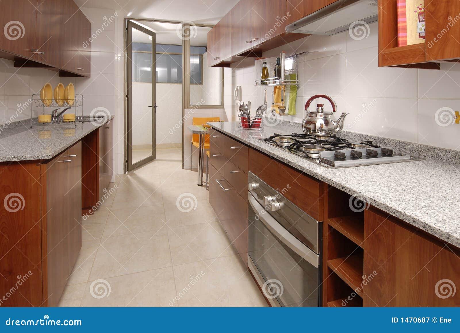 Cuisine d 39 appartement photographie stock libre de droits image 1470687 - Cuisine d appartement ...