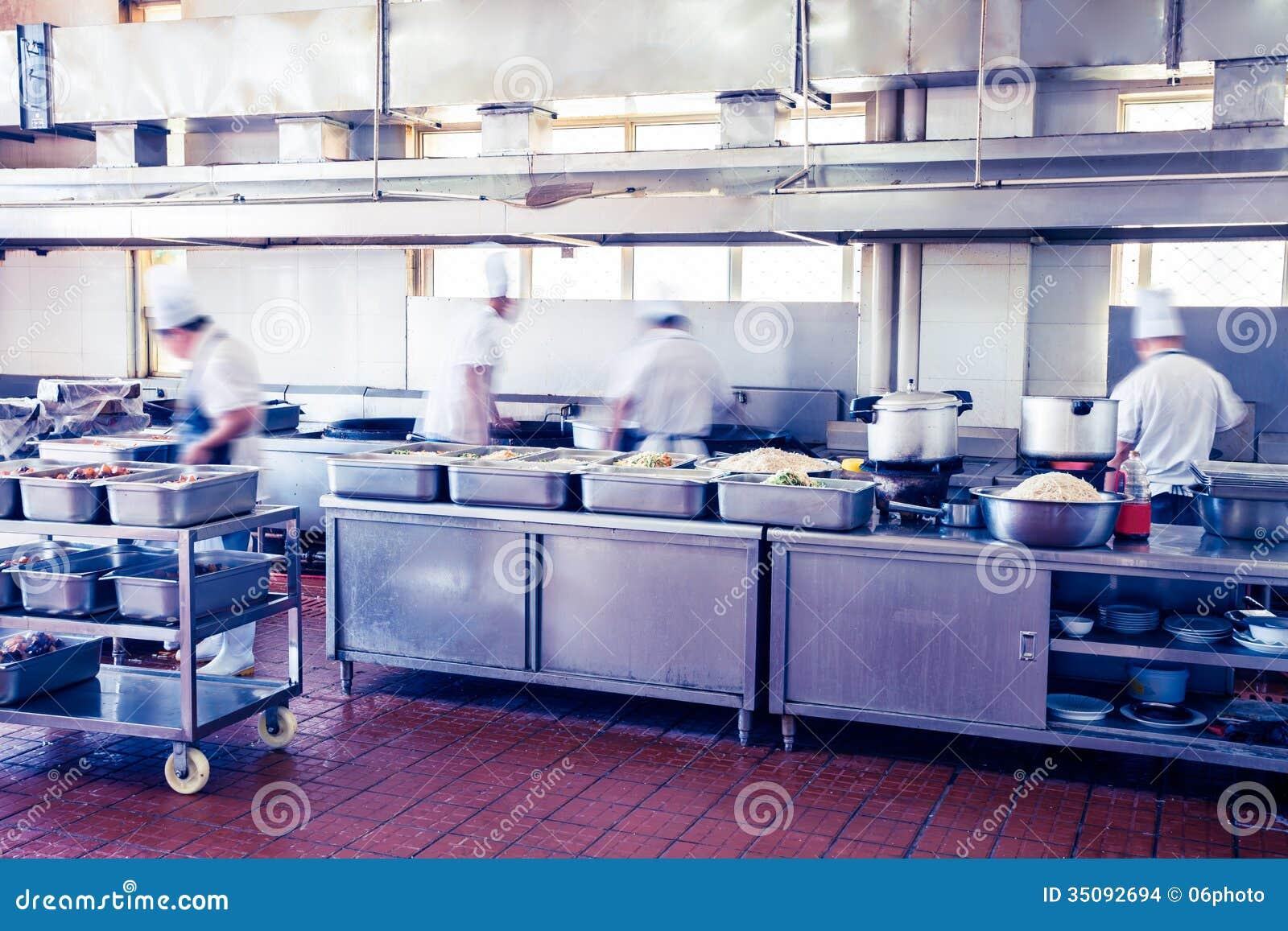 Cuisine d 39 un restaurant chinois images stock image 35092694 for Cuisine un chinois