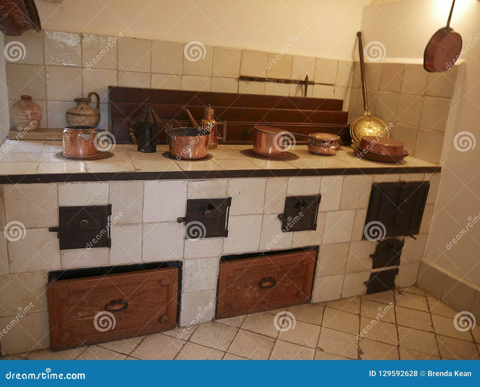Cuisine d une villa dans Anacapri sur l île de Capri dans la baie de Naples Italie