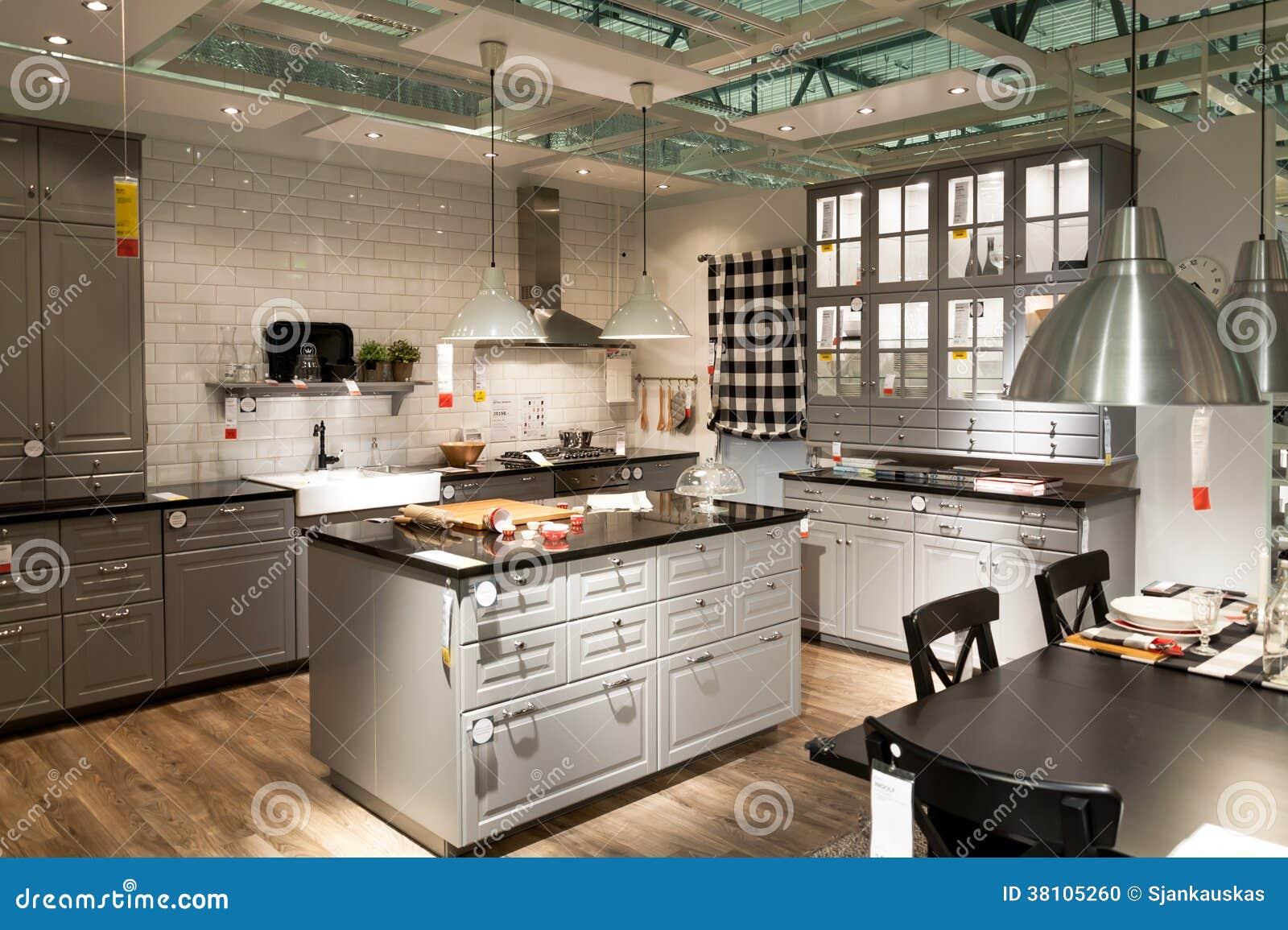 Cuisine dans le magasin de meubles ikea image ditorial for Cuisine de a a z