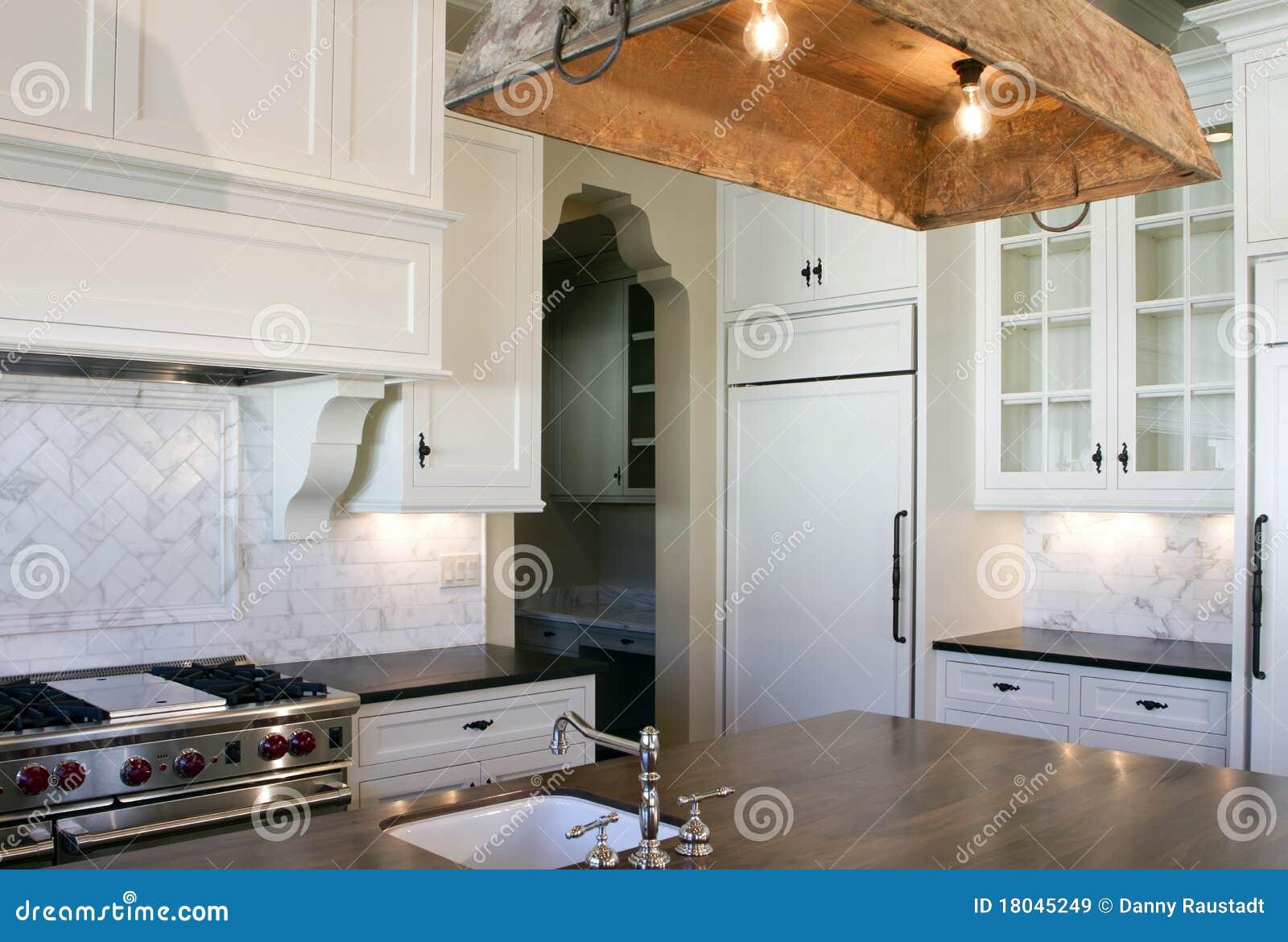 Cuisine De Blanc De Type De Maison Image Stock Image Du