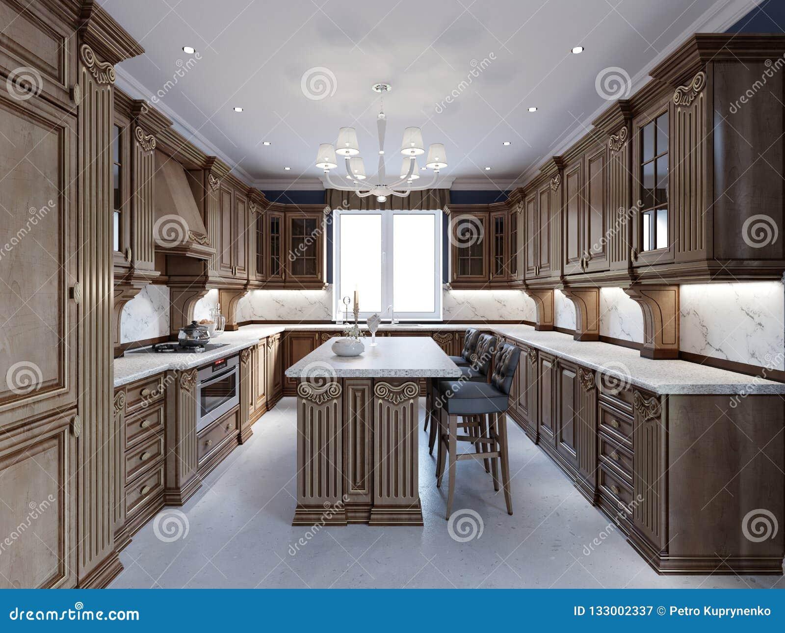 Plan De Travail Cuisine Marbre Prix cuisine de luxe avec le plancher de tuiles, le plan de