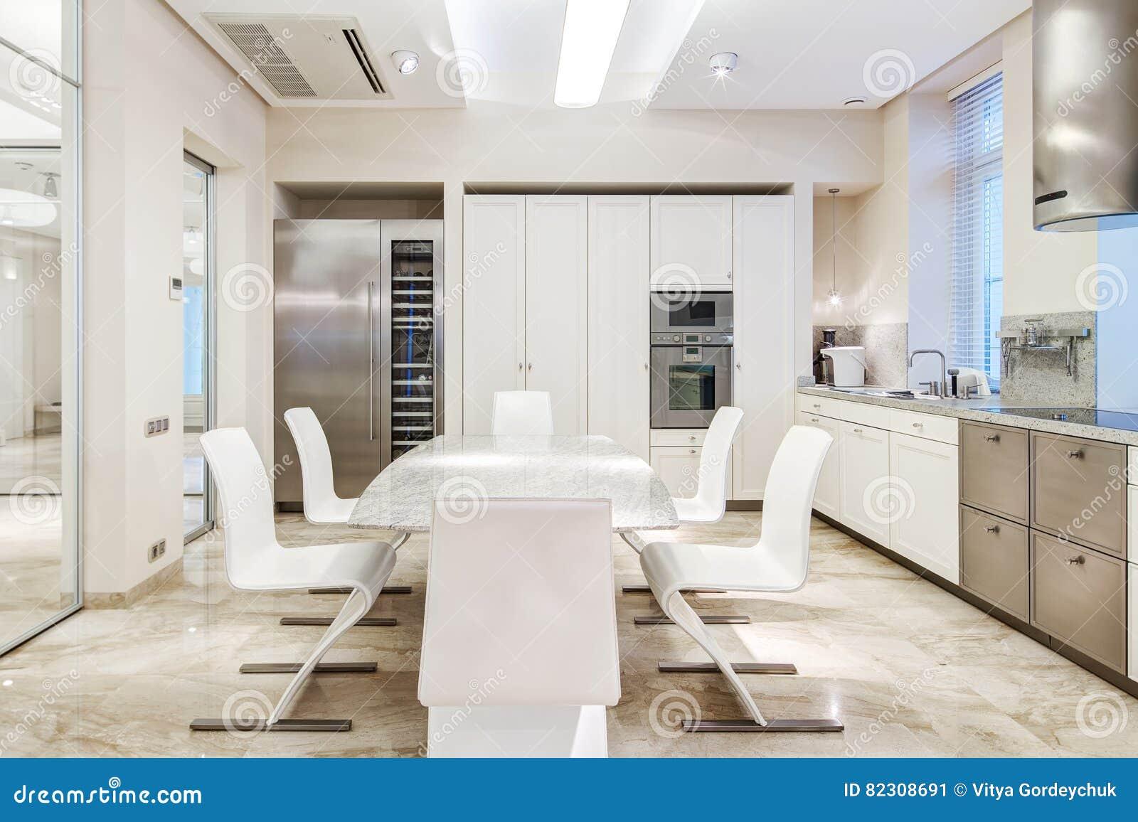 Cuisine de luxe blanche