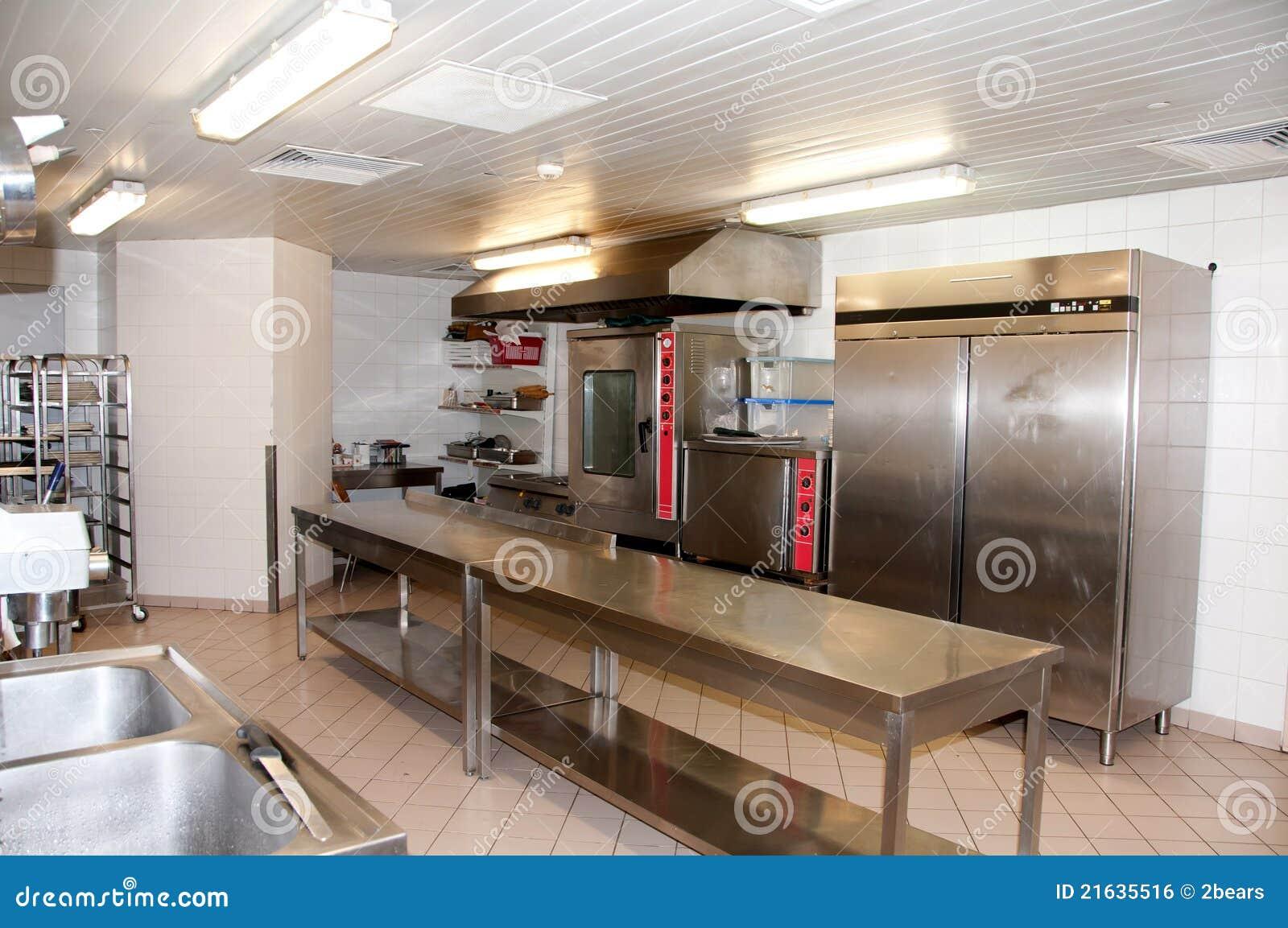 Cuisine de restaurant à l intérieur