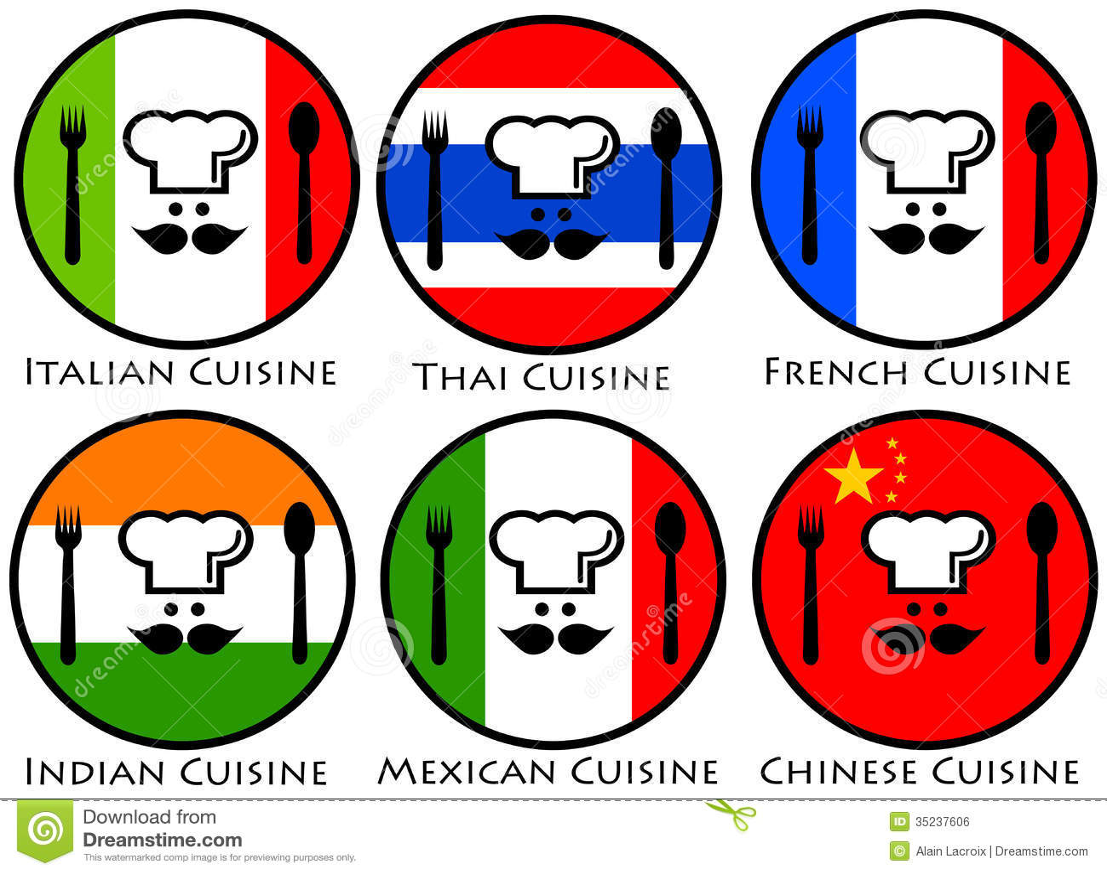 Cuisine du monde illustration stock illustration du cuisines 35237606 - Top 10 des cuisines du monde ...