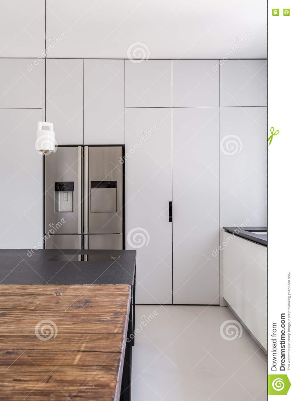 Cuisine Fonctionnelle Simple Photo Stock Image Du Espace Home