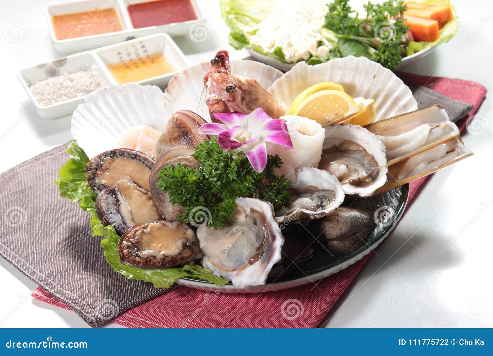 Cuisine fraîche et savoureuse de fruits de mer