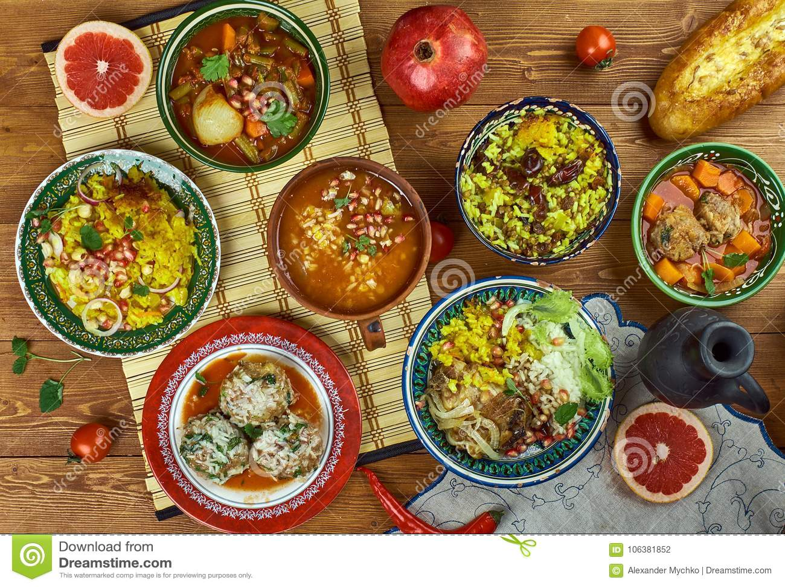 Cuisine Iranienne | Cuisine Iranienne Photo Stock Image Du Adas Assiette 106381852