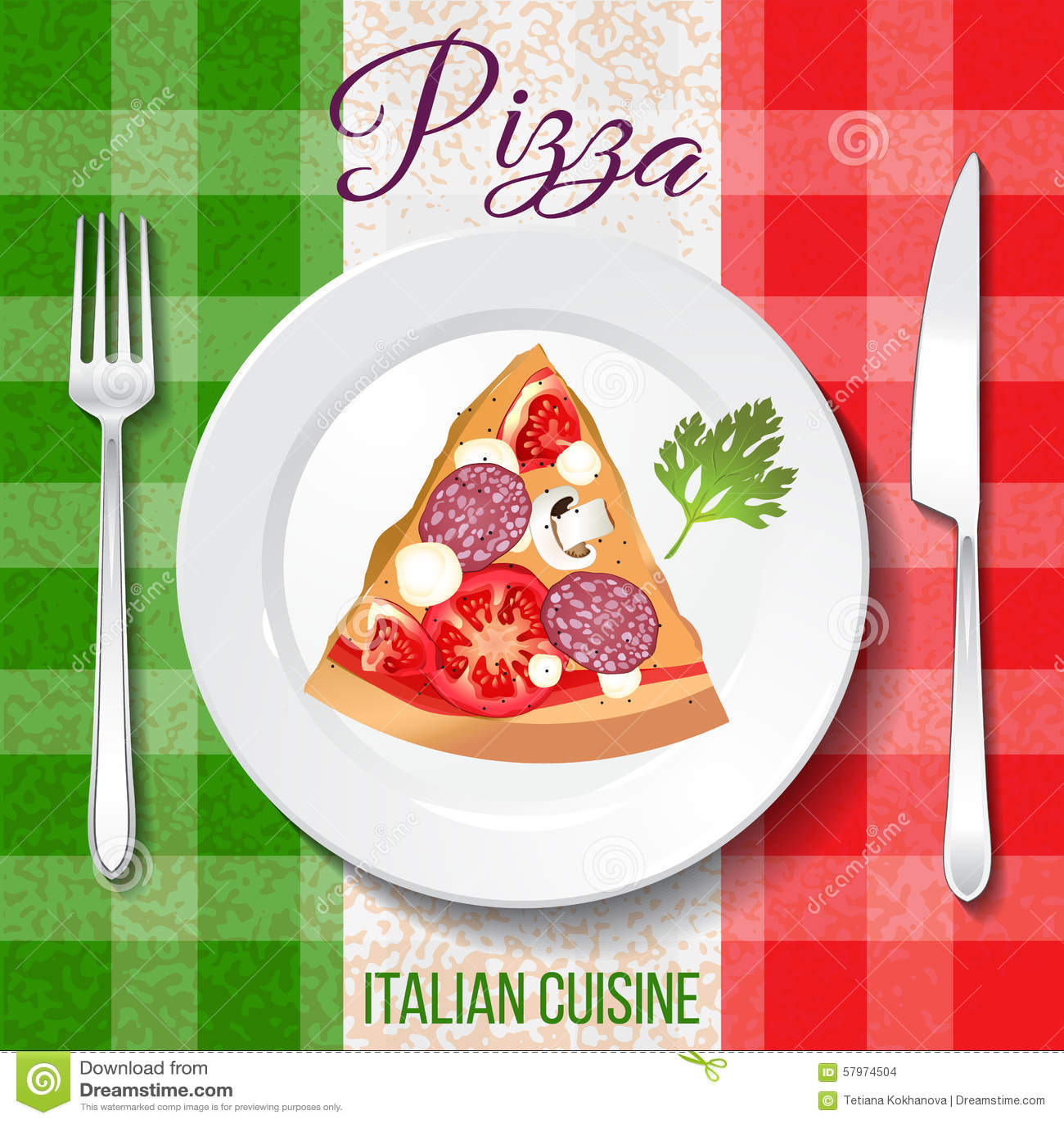 Cuisine italienne traditionnelle illustration de vecteur for Cuisine italienne x