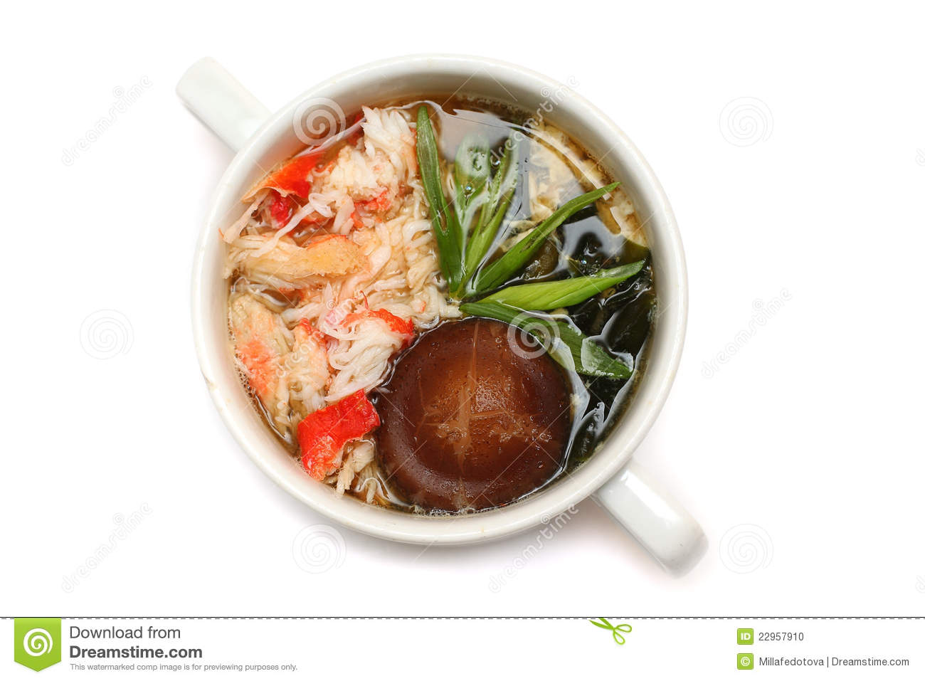 Cuisine japonaise potage de fruits de mer photo stock for Cuisine japonaise
