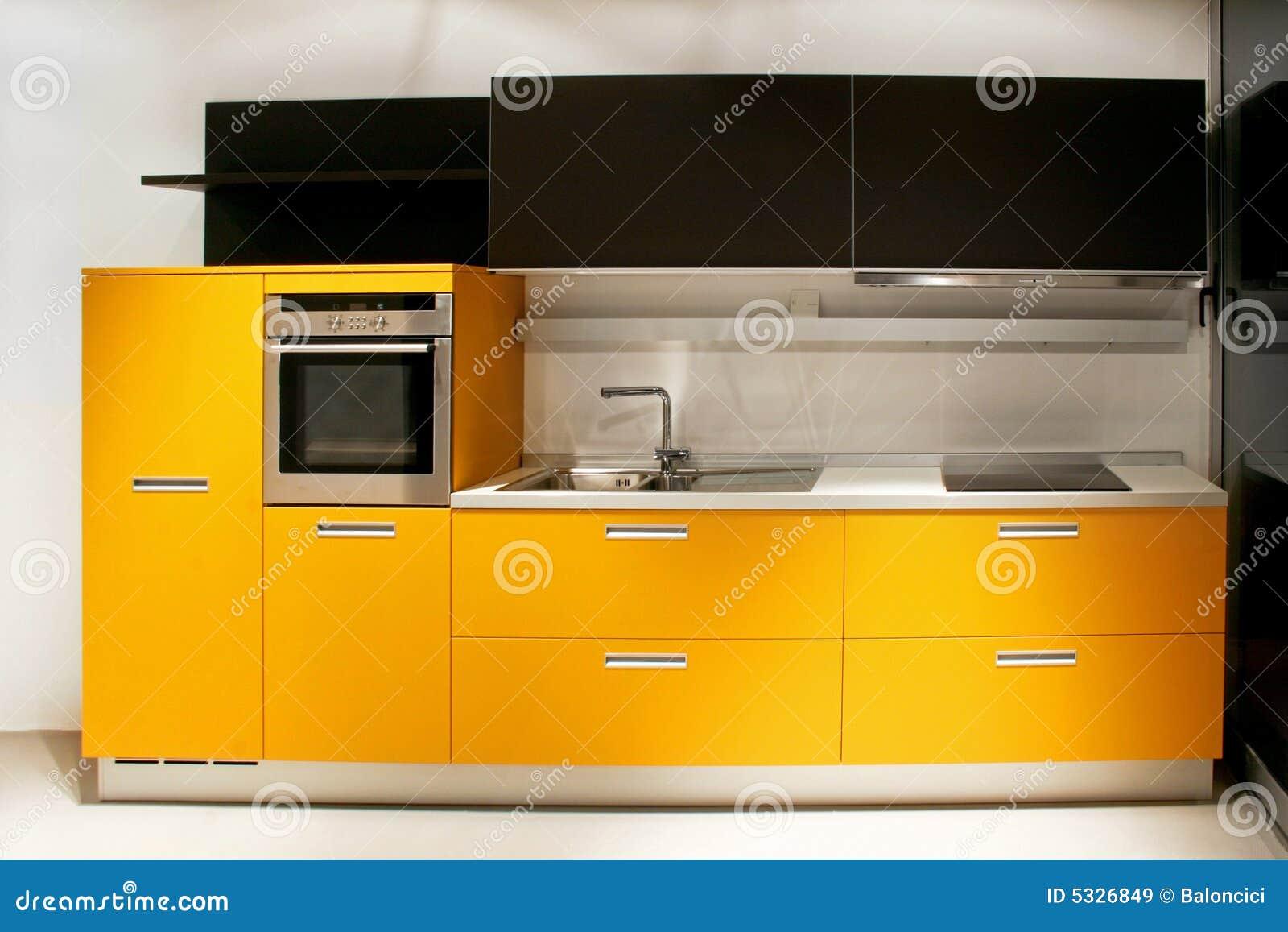 Cuisine jaune images libres de droits image 5326849 - Cuisine blanche et jaune ...