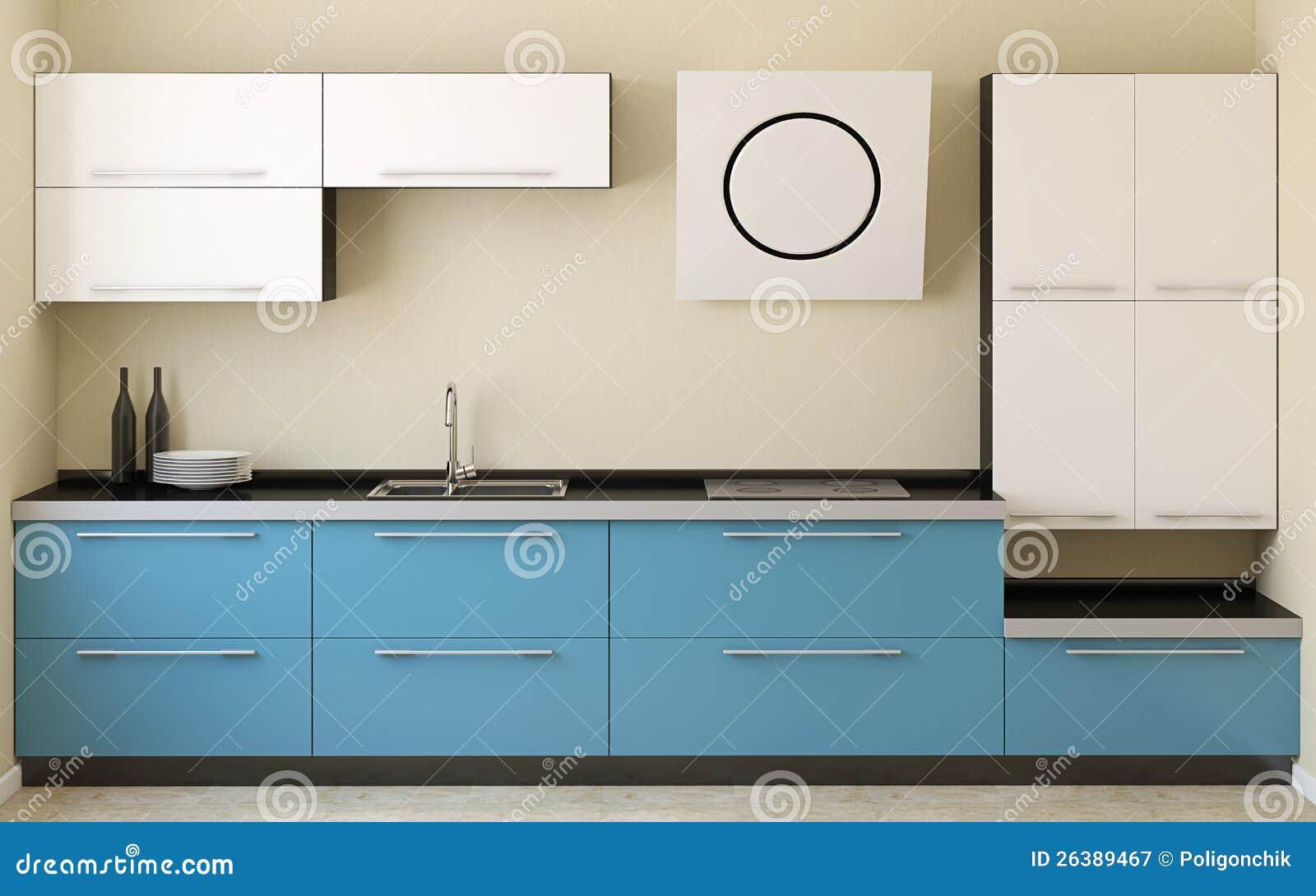 Cuisine moderne photographie stock libre de droits image 26389467 for Interieur cuisine moderne