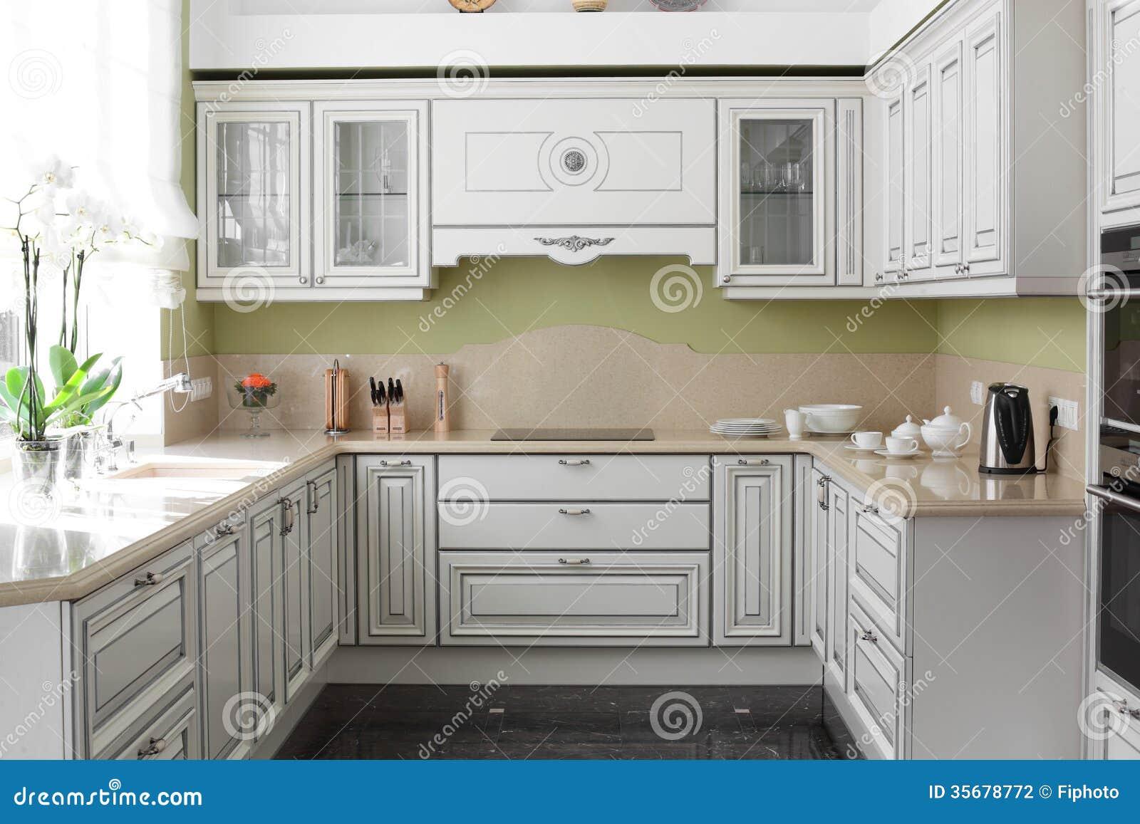 cuisine moderne avec les meubles lgants