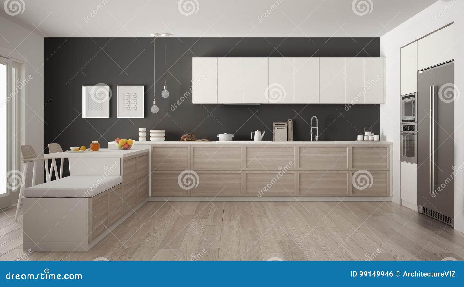Cuisine Moderne Classique Avec Les Details Et Le Plancher De