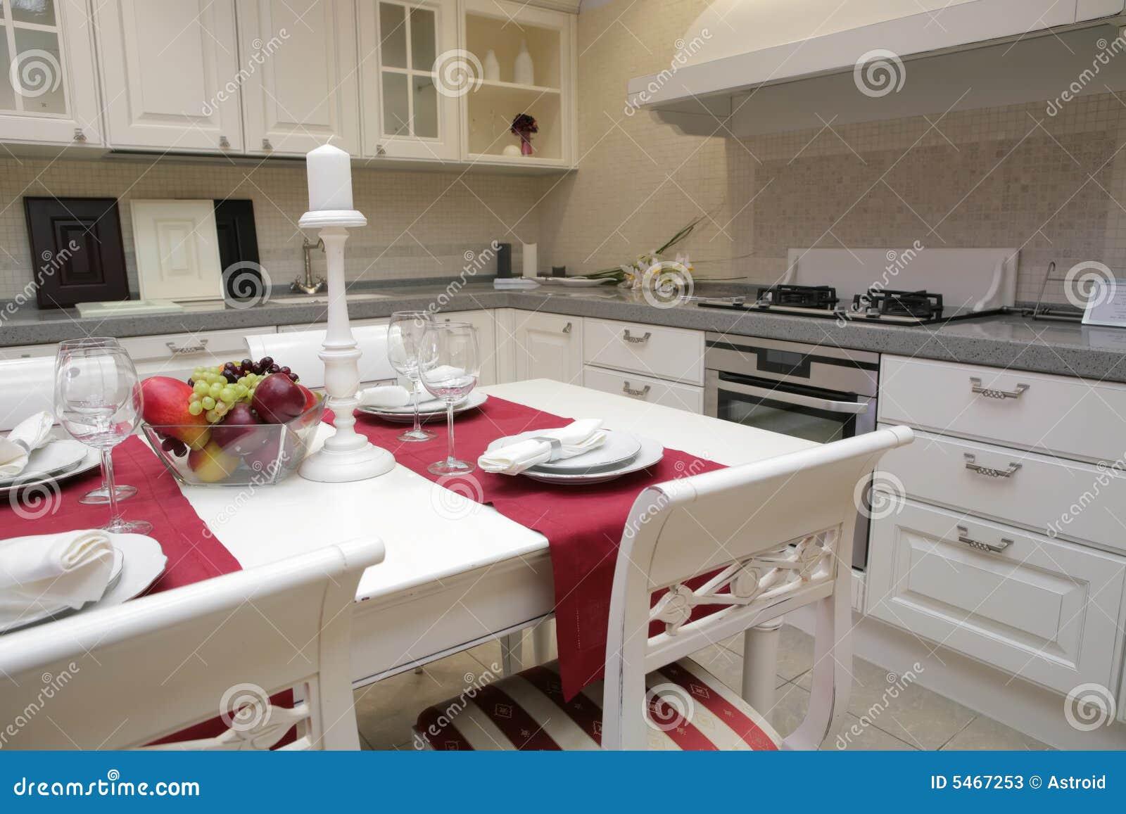 Cuisine moderne dans le type classique image stock image - Cuisine moderne dans l ancien ...