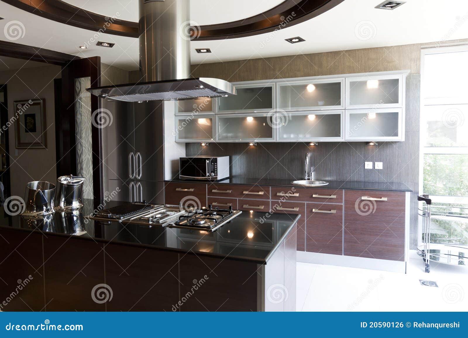 Cuisine moderne dans un appartement image libre de droits for Cuisine moderne appartement