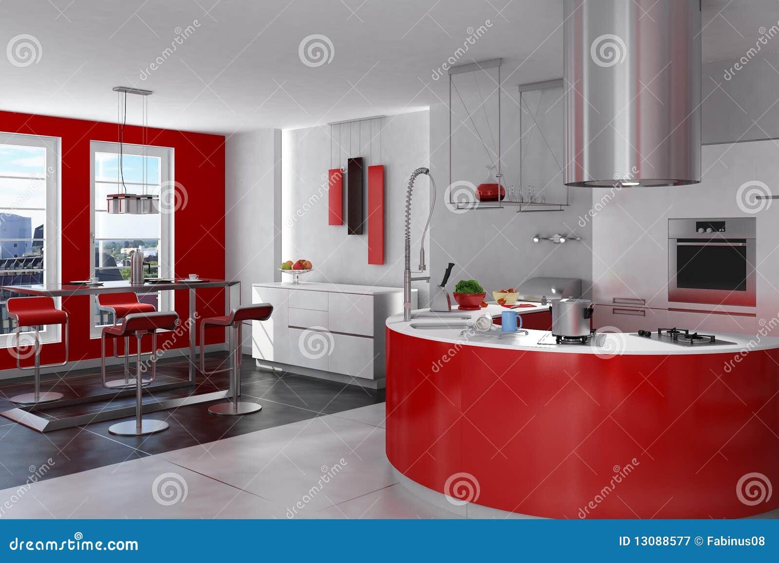 Photographie stock libre de droits: spacious modern kitchen. image ...