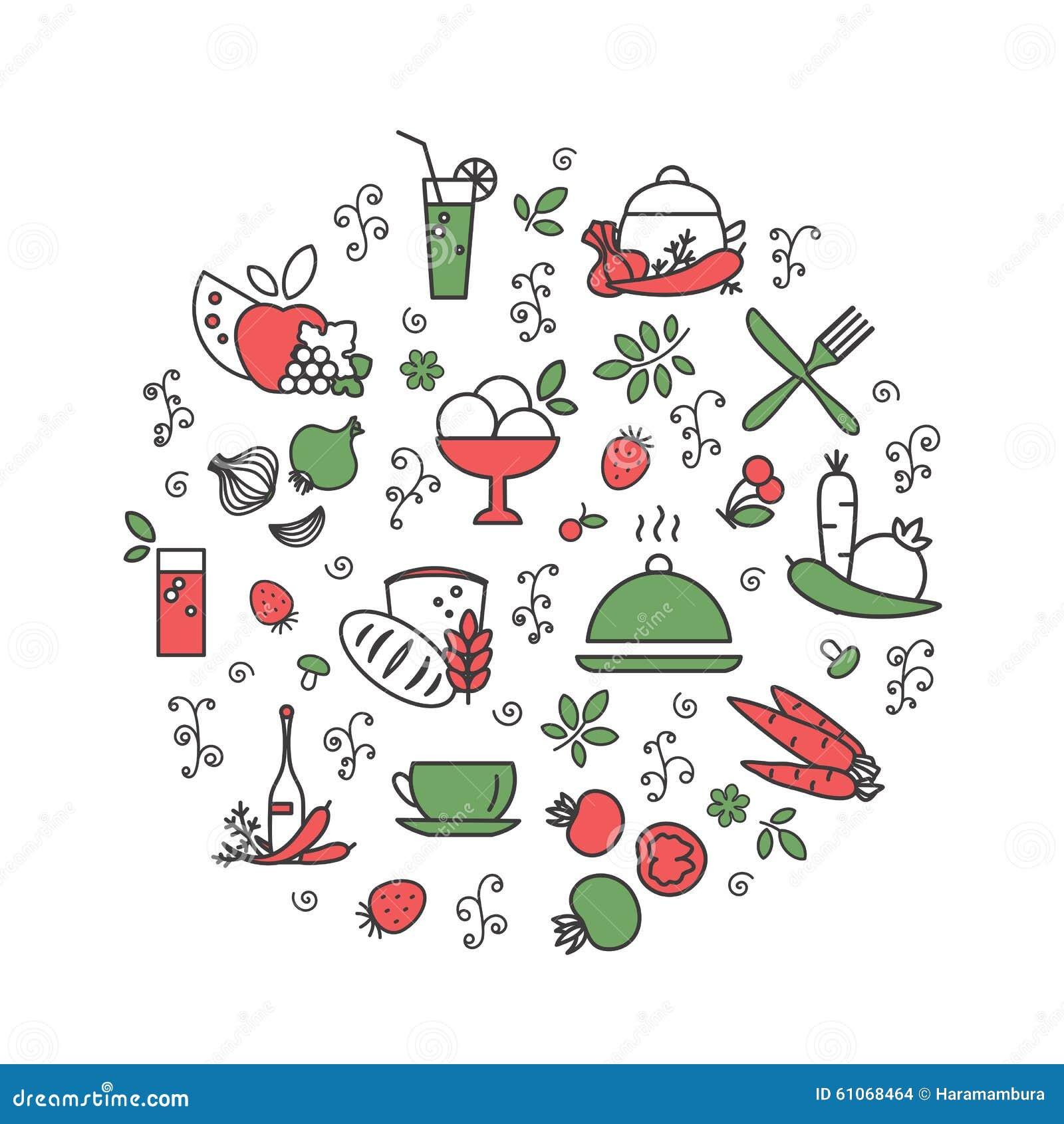Cuisine nourriture illustration de vecteur image 61068464 for Mr cuisine edition plus