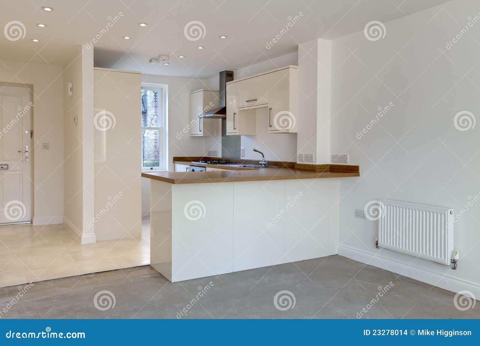 Cuisine ouverte moderne de plan images stock image 23278014 for Plans de cuisine ouverte