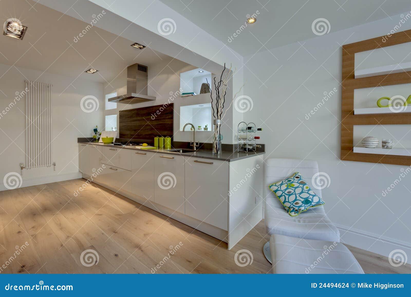 Cuisine Ouverte Moderne De Plan Images stock - Image: 24494624