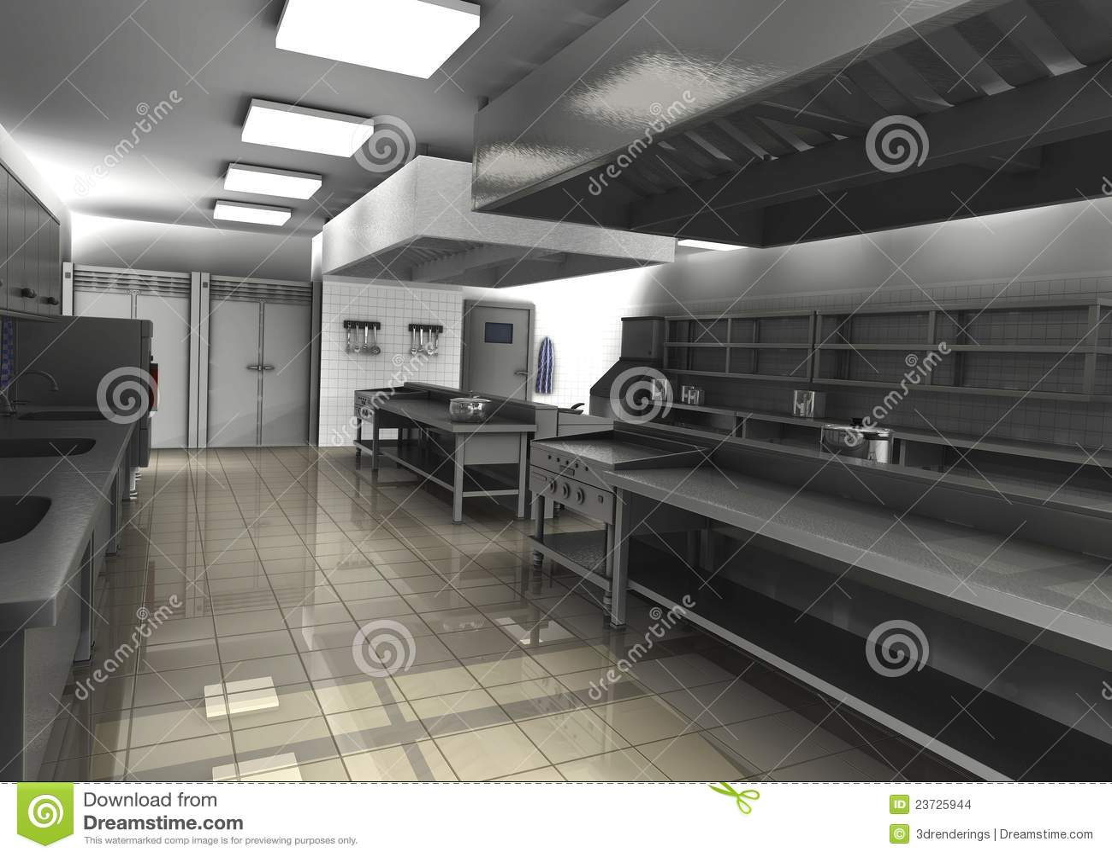 Cuisine professionnelle de restaurant videz images stock for Prix cuisine professionnelle restaurant
