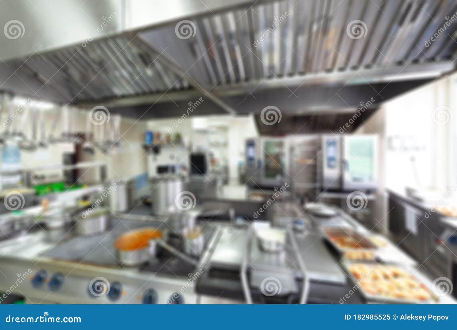 Cuisine Of Restaurant Chrome Kitchen Equipment Cafe Stock Image Image Of Prepare Background 182985525