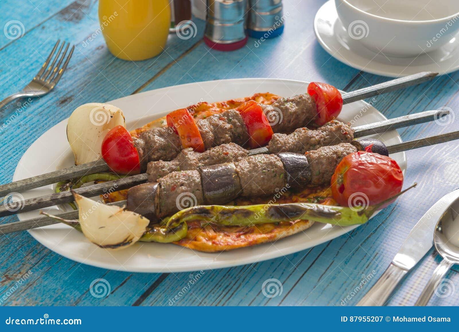 Cuisine Syrienne Traditionnelle Kofta Image Stock Image