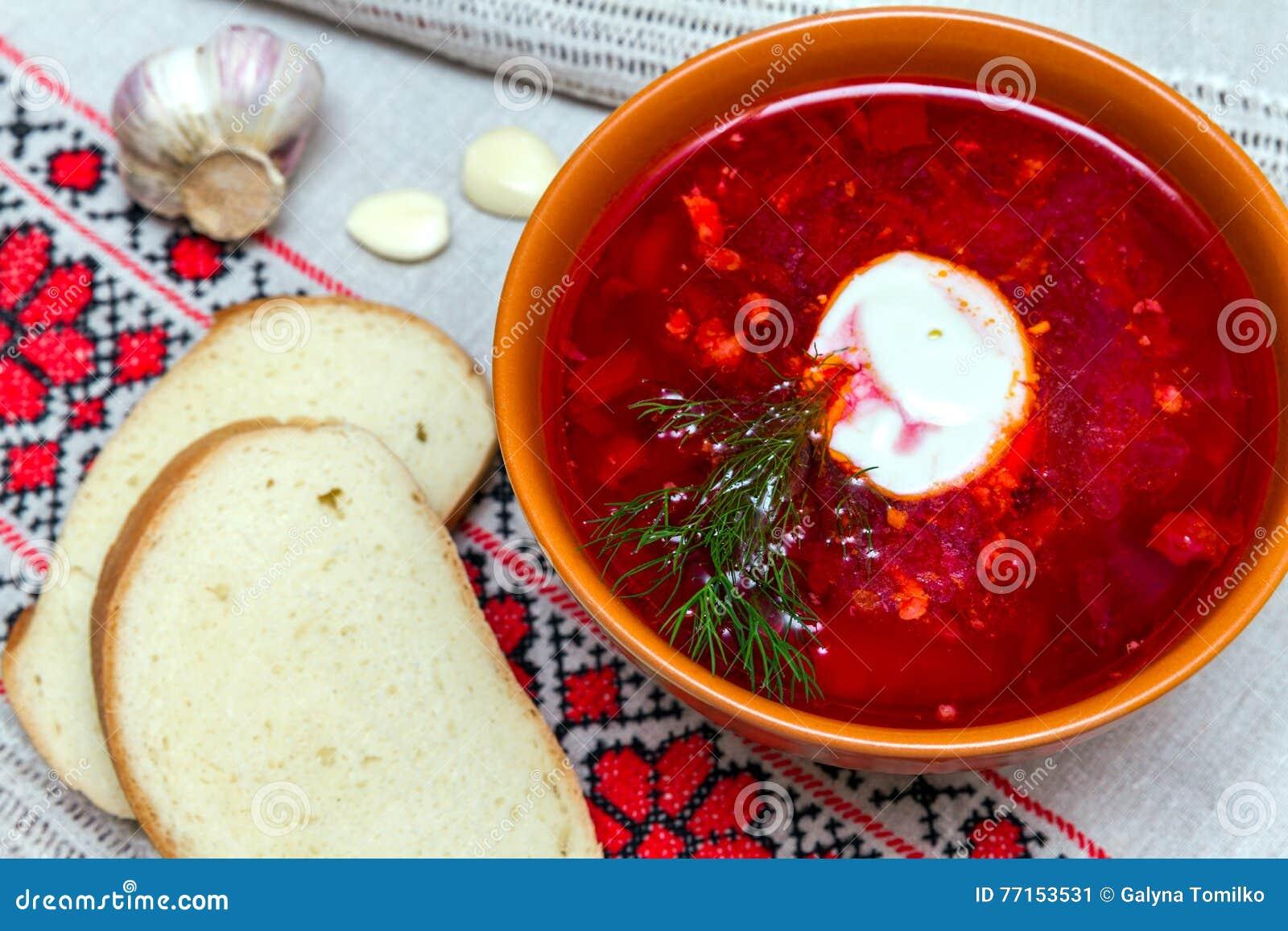 Cuisine traditionnelle : borscht rouge