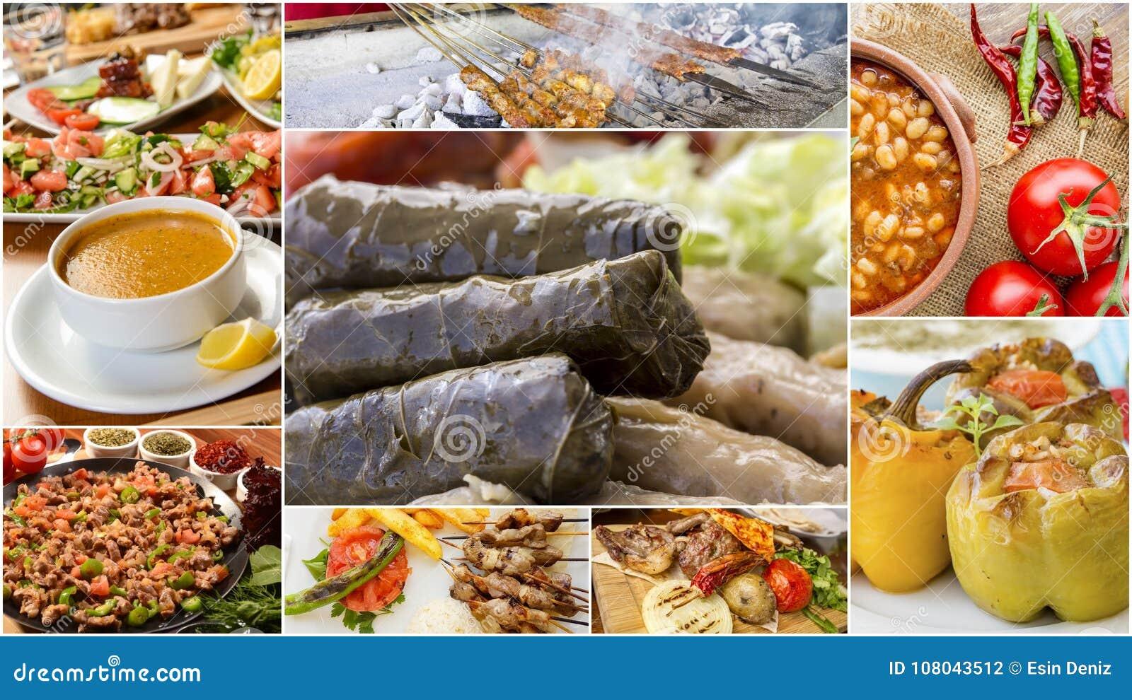 Cuisine Turque Traditionnelle Saveurs Gastronomes Collage Turc De