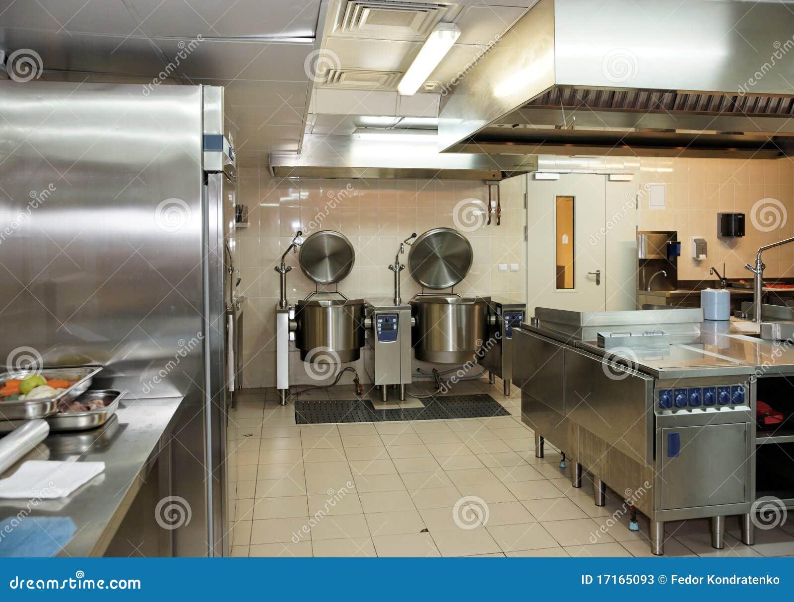 3d rendent de la cuisine professionnelle de restaurant inter
