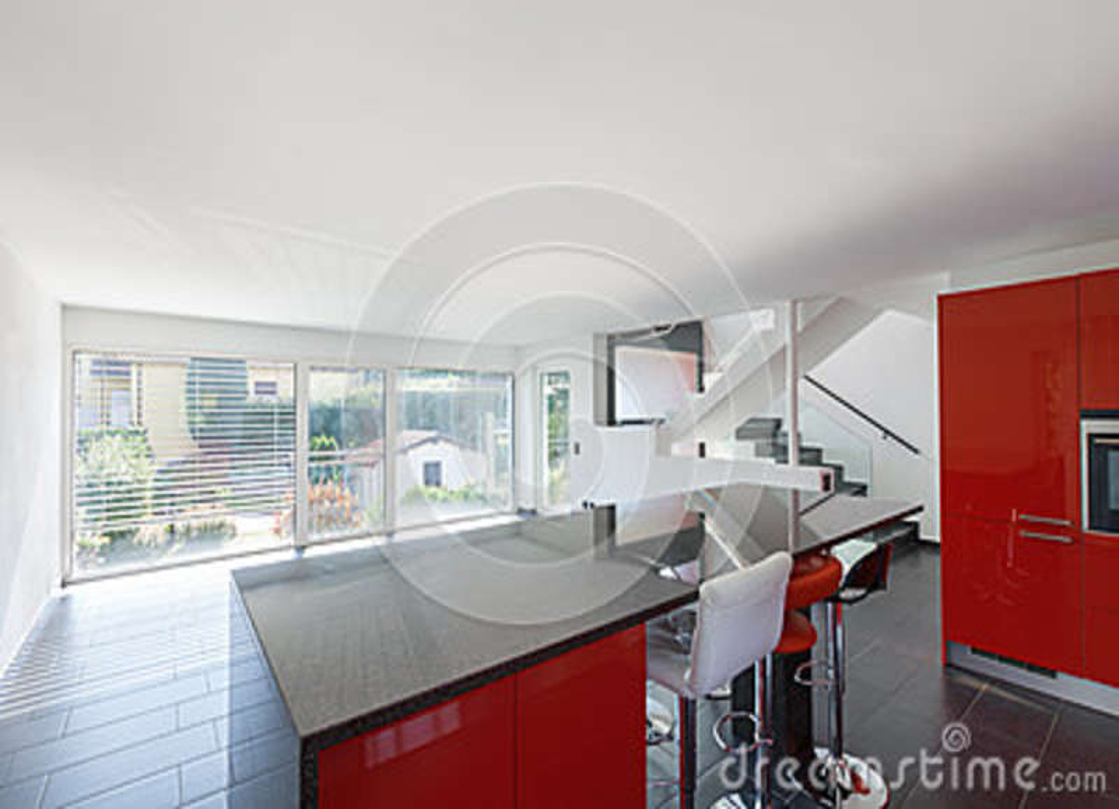 Cuisine vide int rieure de maison moderne salle manger - Vide sanitaire meuble cuisine ...