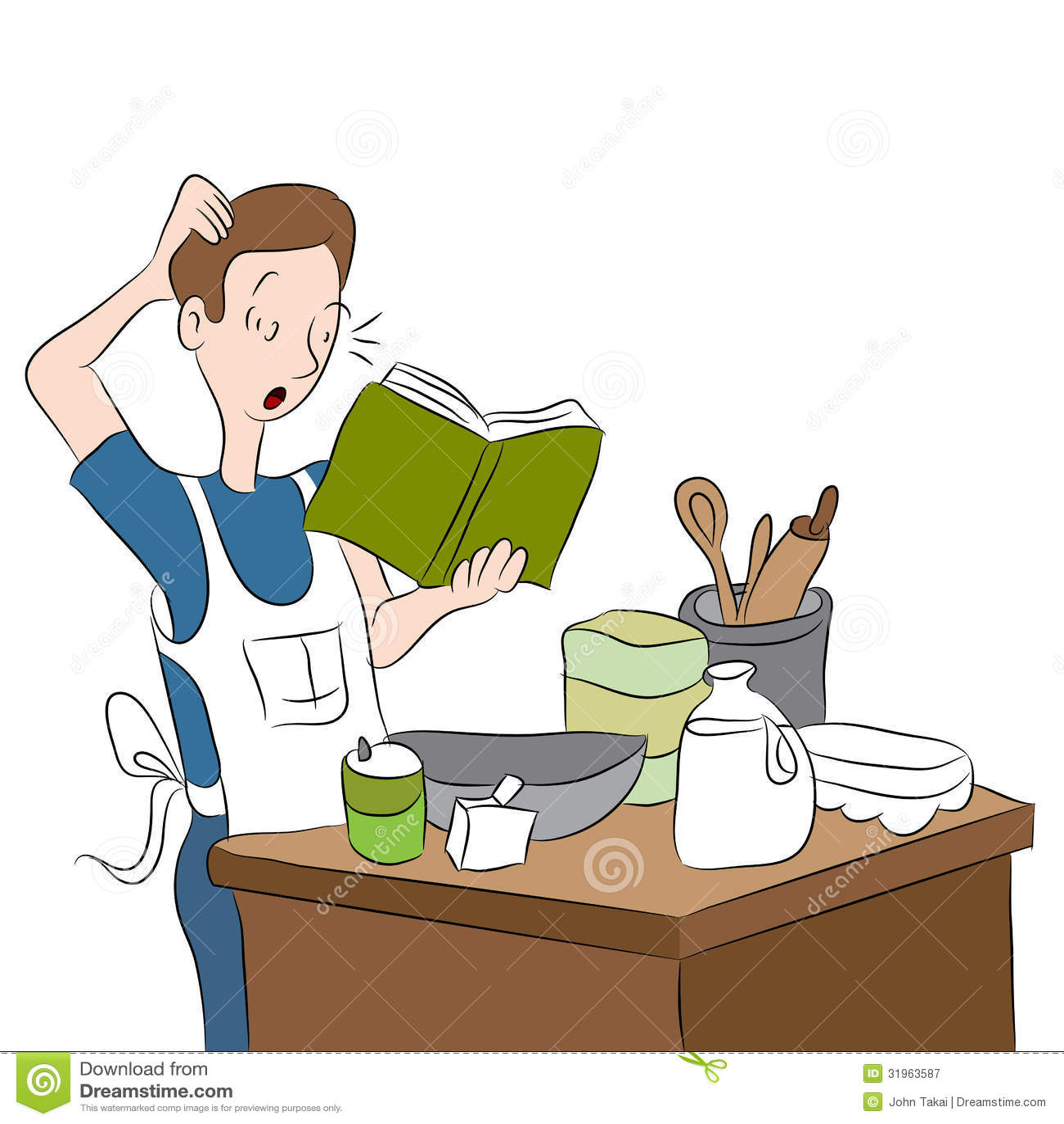 Cuisinier confus photographie stock libre de droits for Cuisinier sel