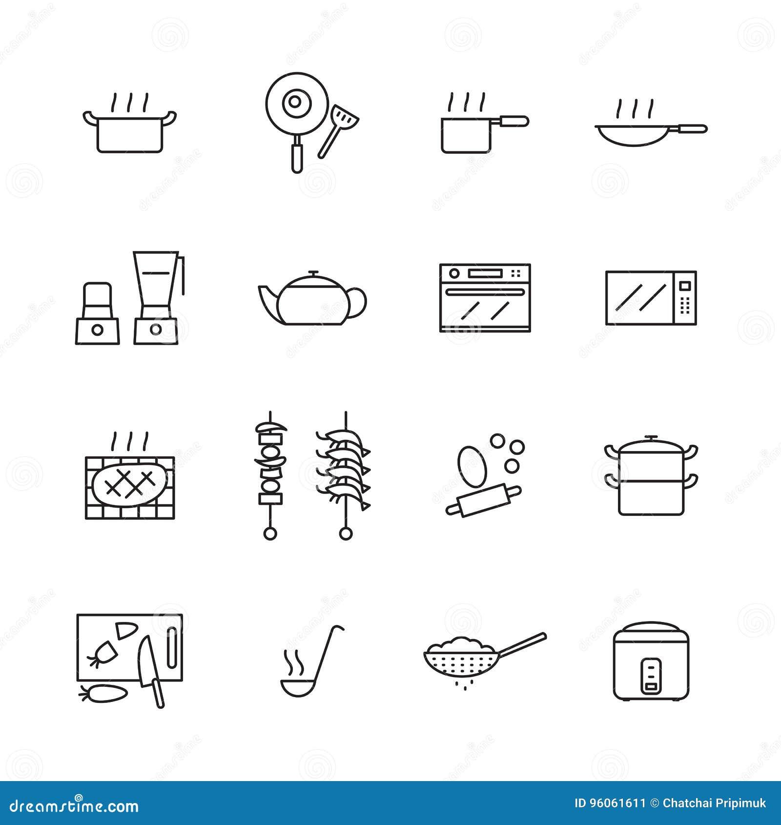 Cuisinier d icône, vecteur