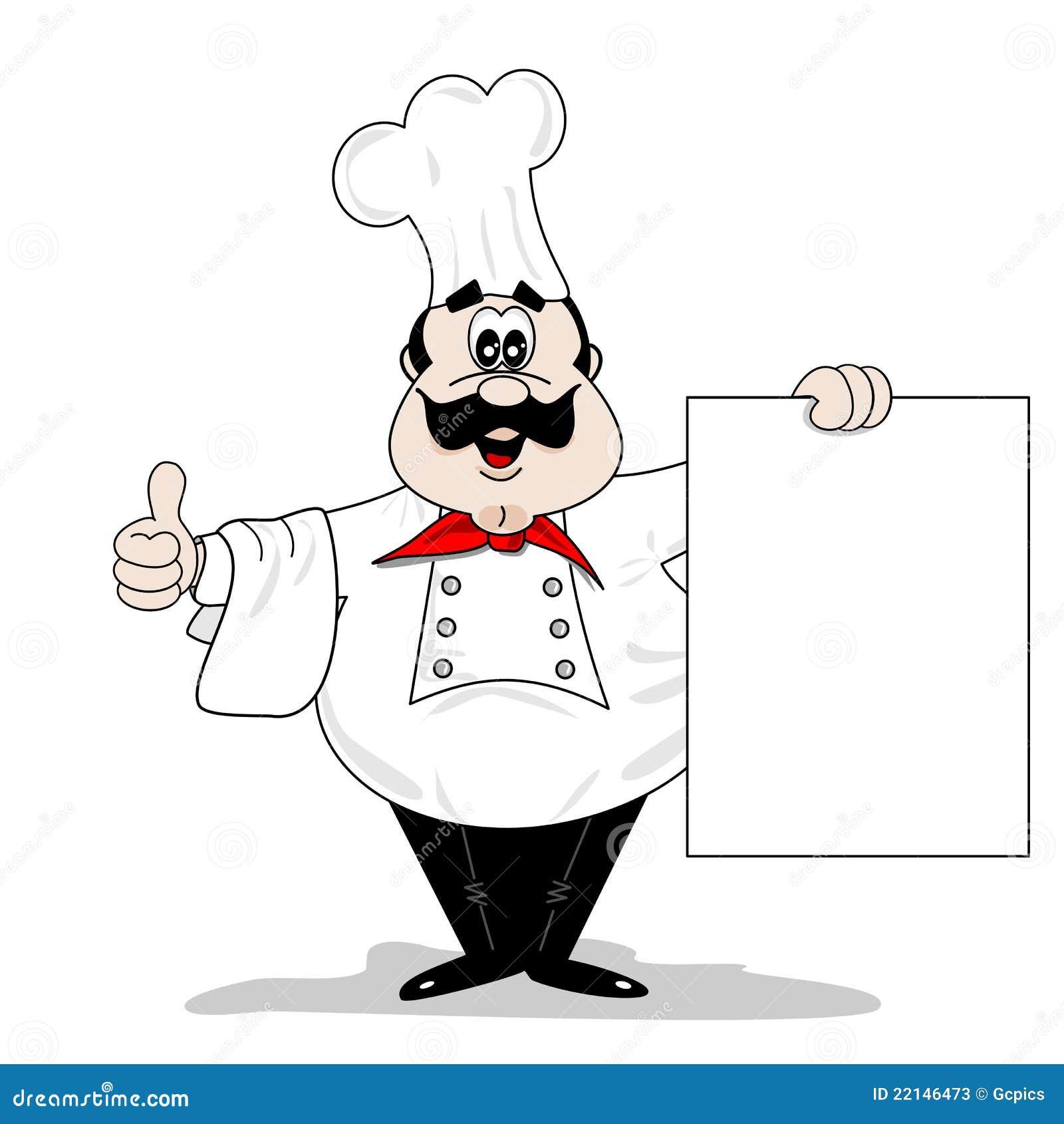 Cuisinier de chef de dessin anim illustration de vecteur - Chef cuisinier dessin ...