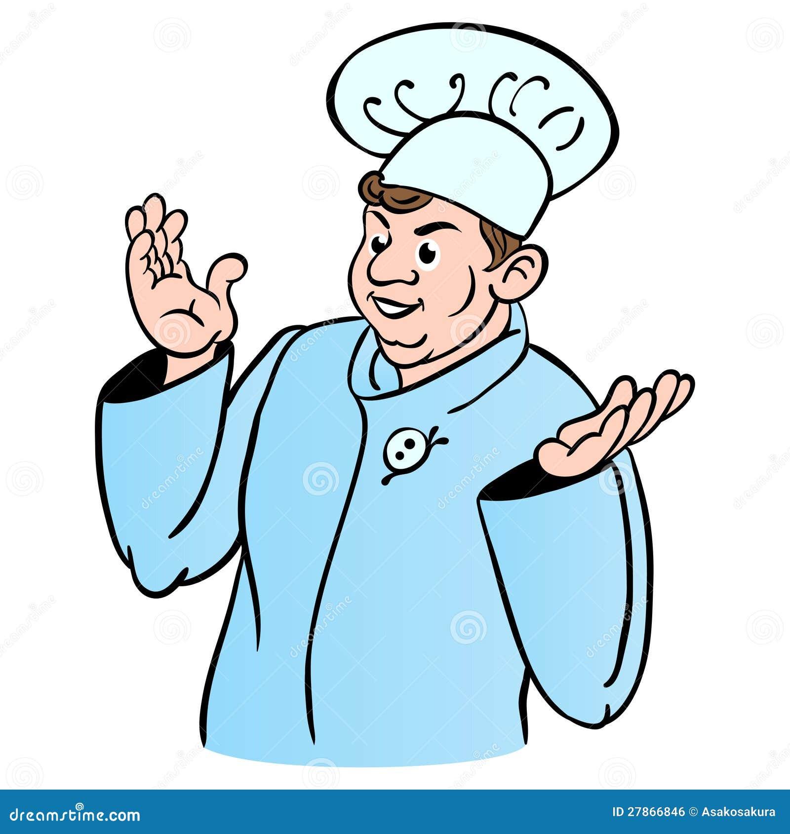Cuisinier de chef personnage de dessin anim image libre - Chef cuisinier dessin ...