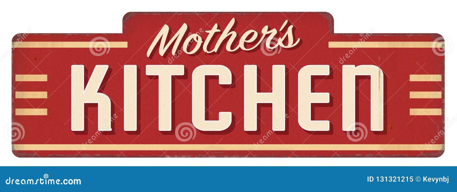 Cuisinier de décoration de wagon-restaurant de plaque de signe de cuisine des mamans de la mère