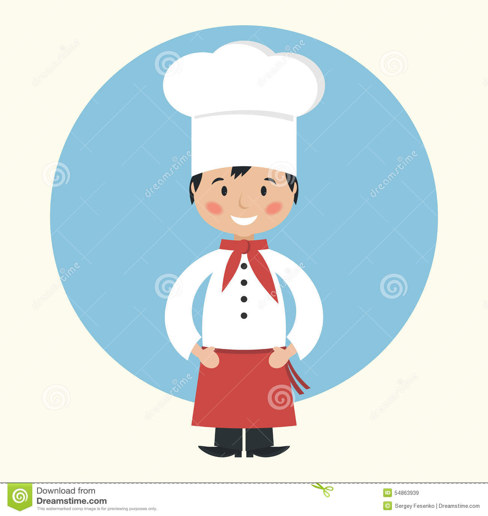 Cuisinier dr le de chef de dessin anim illustration de - Cuisinier dessin ...