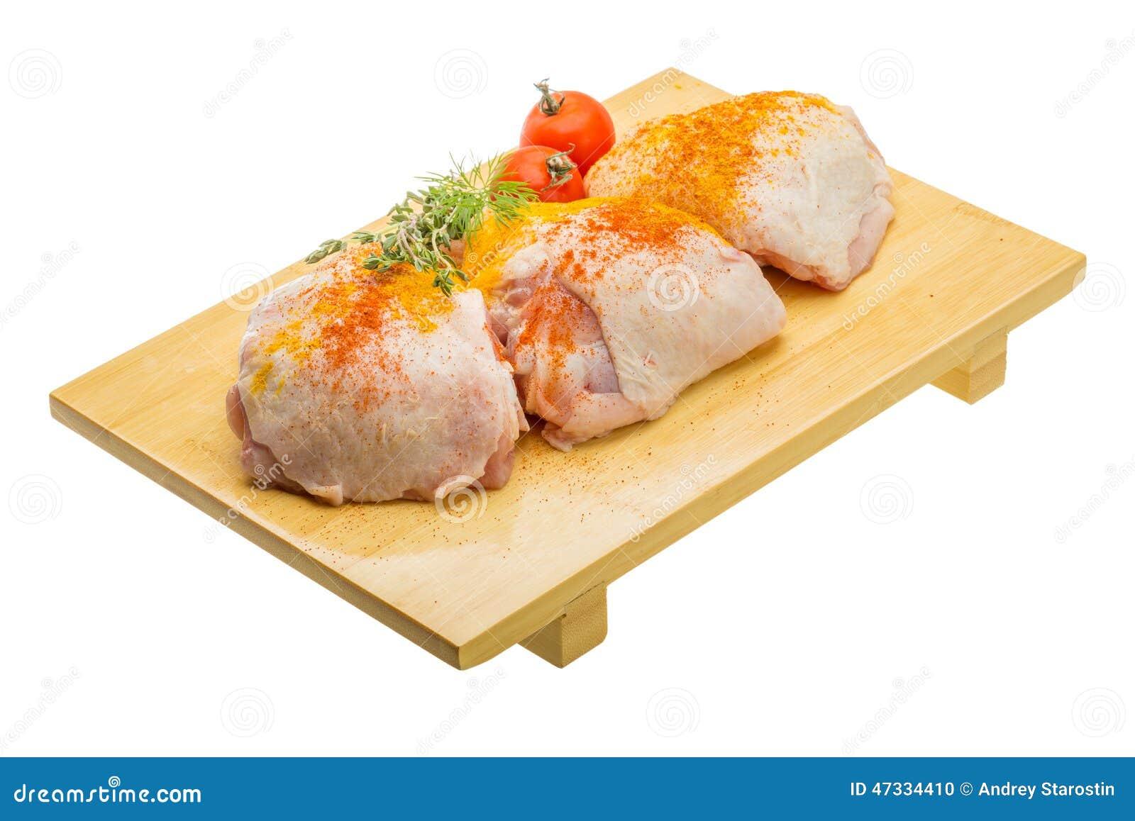 Cuisse crue de poulet