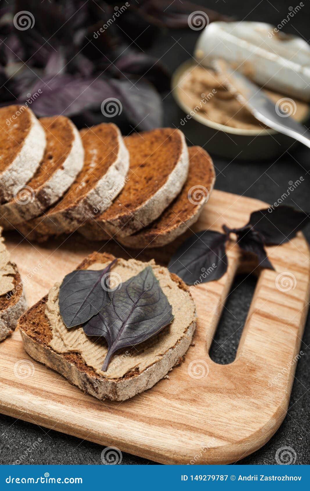 Cuisson française, pâté de foie de poulet Appétissant délicieux